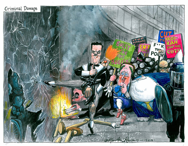 13.11.10: Martin Rowson on the protests against student fees