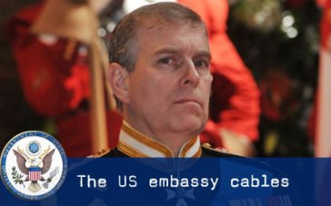 Prince Andrew WikiLeaks US embassy cables