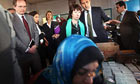 Lady Ashton visits the UN Relief and Works Agency headquarters in Gaza Strip