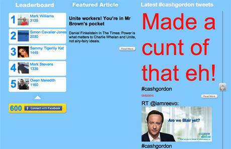 Cash-gordon.com has been hacked