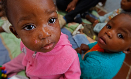 Children orphaned by Aids at a care centre in Cape Town