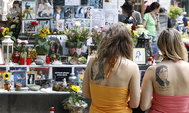 Michael Jackson memorial: People observe a moment of silence at a 