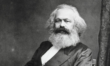 German Political Philosopher Karl Marx Sitting
