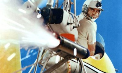 Sean Connery flies high aboard Little Nellie in You Only Live Twice