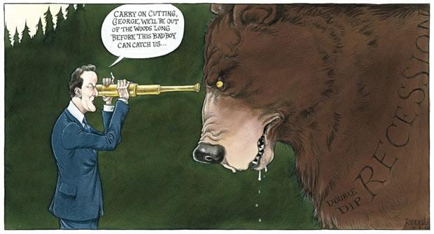 Chris Riddell's Observer comment cartoon 15.08.10