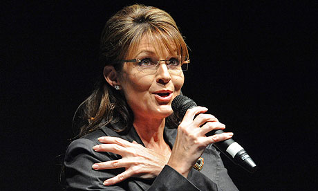 Sarah Palin addresses a 9/11 event in Anchorage, Alaska