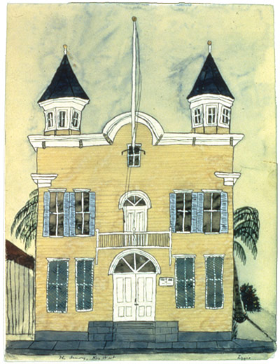 Exchanging Hats book: The Armory, Key West, a painting by Elizabeth Bishop