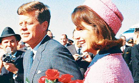 John Kennedy and Jackie Kennedy arrive in Dallas in 1963