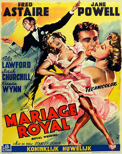 Film Poster Exhibition: Royal Wedding poster