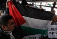 Palestinian activists on bus