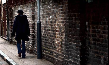 Woman human trafficking victim