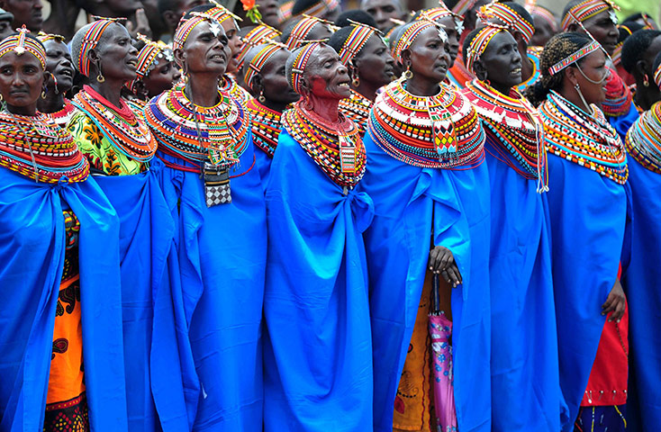 Samburu People: Samburu tribal people of Kenya