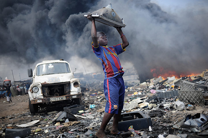 """""""Waste Export to Africa"""" by Kai Löffelbein. Hosted at the Guardian."""