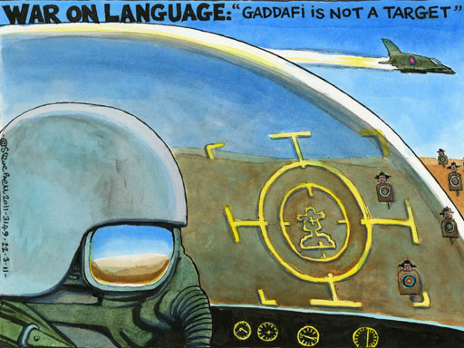 22.03.11: Steve Bell on Gaddafi being a target