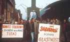Solidarity demonstration at Gdansk Shipyard in 1988