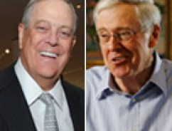 David, left and Charles Koch.