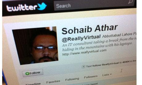 Sohaib Athar's Twitter account