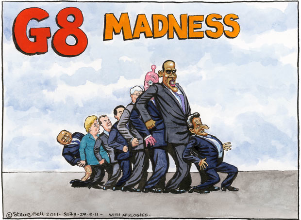 Steve Bell - G8 summit - 27 May 2011