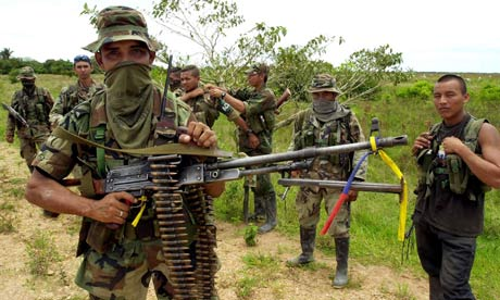 War between Colombian paramilitaries, guerillas and government forces blamed for civilians deaths