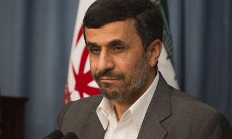 pressure on Ahmadinejad