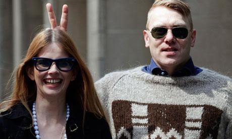 Actor islandés, el comediante y el alcalde de Reykjavik, Jon Gnarr presenta en Nueva York