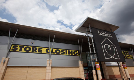 A closing Habitat store in Essex.