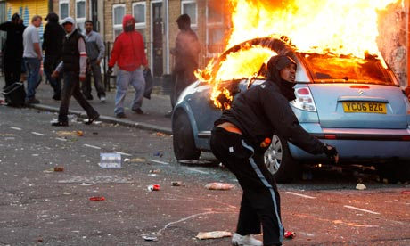 Riots and looting in Hackney, north London.
