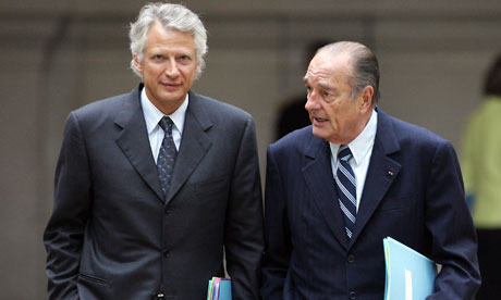 Jacques Chirac and Dominique de Villepin