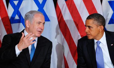 Israeli PM Binyamin Netanyahu and Barack Obama