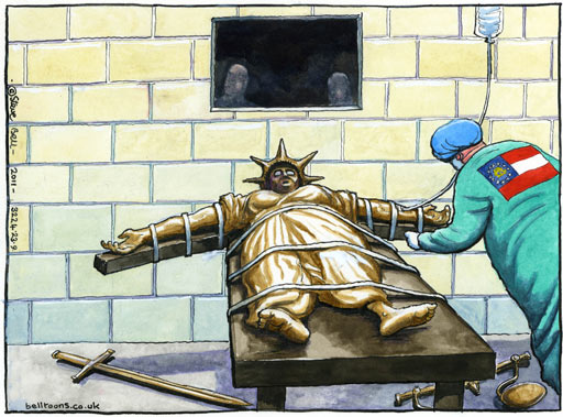 23.09.11: Steve Bell on the execution of Troy Davis