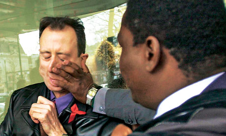 Peter Tatchell attacked by Mugabe security