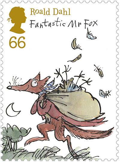 Roald Dahl stamps: Roald Dahl Royal mail stamp launch