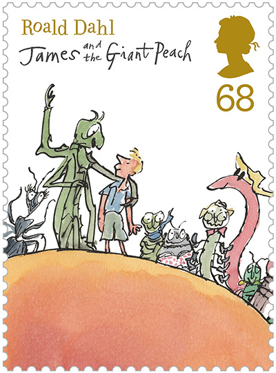 Roald Dahl stamps: James and the Giant Peach