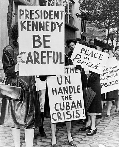 Cuban missile crisis : Women trike For Peace