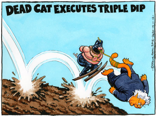 15.11.12: Steve Bell on Mervyn King's warning that UK is at risk of triple-dip recession