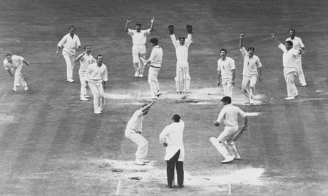 England v Australia in August 1968. Photograph: Central Press/Getty Images