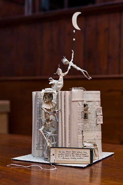 Book sculpture: JM Barrie's Peter Pan