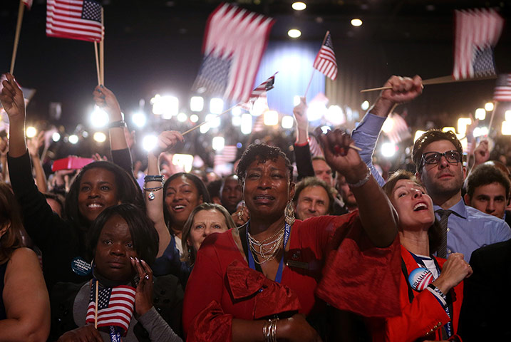 Election celebrations: President Obama Holds Election Night Event In Chicago