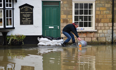 Flooding Old Malton pub