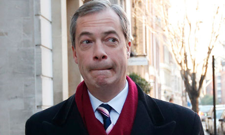 Nigel Farage, leader of Ukip, in London in November 2012