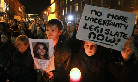 Prochoice protest in Ireland: Savita