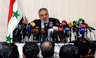 Syria information minister Omran al-Zoubi