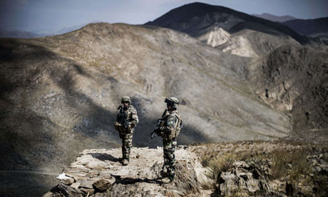 French soldiers in Wardak province, Afghanistan, where the health clinic was attacked by Nato troops