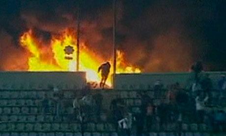 Stadium fire in Port Said