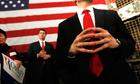 secret service agents watch Romney in Michigan