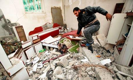 Israeli air strike in Jabalya