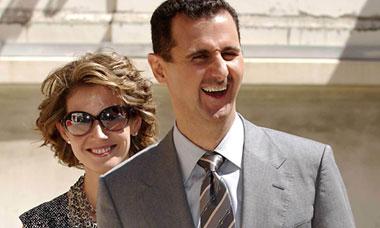 Syrian President Bashar Assad and his wife Asma