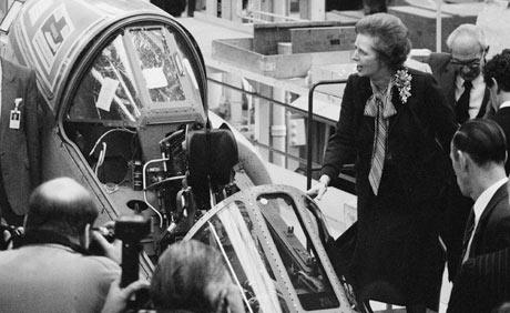 Thatcher At Harrier Factory