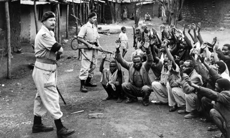 Mau Mau round-up, Kenya 1954