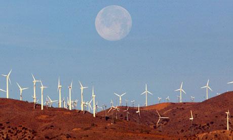 a wind farm in california